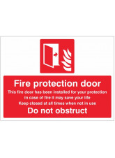 Fire Protection Door Do Not Obstruct