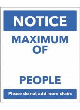 Notice - Maximum of *Blank Space* People