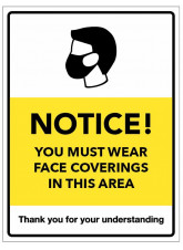 Notice - You must wear Face Coverings