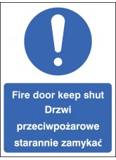 Fire Door Keep Shut (English / Polish)