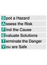 S.A.F.E.T.Y - Spot - Assess - Find - Evaluate - Terminate -You are Safe