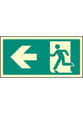 Intermediate Fire Exit Marker - Arrow Left