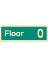 """Floor 0"" - Floor Level Dwelling ID Signs"