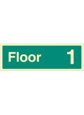 """Floor 1"" - Floor Level Dwelling ID Signs"
