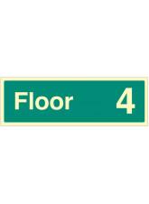 """Floor 4"" - Floor Level Dwelling ID Signs"
