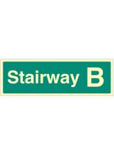 Stairway B - Stairway Dwelling ID Signs