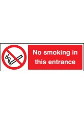 No Smoking in this Entrance