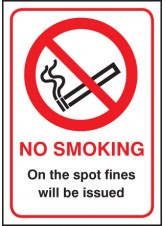 No Smoking - On the Spot Fines Will Be Issued