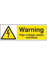 Warning High Voltage Cables Overhead
