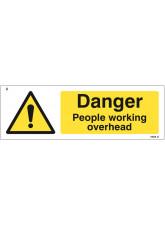Danger People Working Overhead
