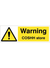 Warning COSHH store