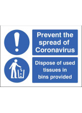 Coronavirus - Dispose of used tissues