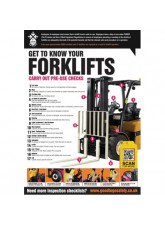 Forklift Inspection Checklist Poster (A2)