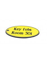 Yellow Key Fob - Oval