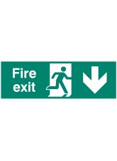 Double Sided Large Fire Exit - Down