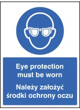 Eye Protection Must be Worn (English / Polish)