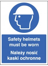 Safety Helmets Must be Worn (English / Polish)