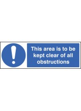 This Area Is to Be Kept Clear of All Obstructions
