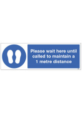 Please wait here until called Floor Graphic - 1m / 2m / Generic Distance Options