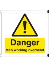 Scaffold Banner - Danger Men Working Overhead (with Loops)