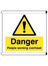 Scaffold Banner - Danger People Working Overhead