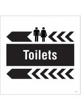 Toilets - Arrow Left - Site Saver Sign - 400 x 400mm
