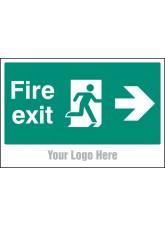 Fire Exit - Arrow Right - Site Saver