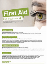 First Aid Eyes Poster - 420 x 594mm