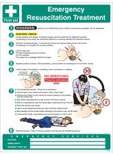 Emergency Resuscitation Treatment Wall Panel - 450 x 600mm