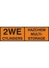 2WE Multi CylinDer Storage Placard Aluminium
