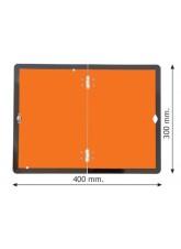 Folding Hazard Warning Vehicle Plate - Reflective Aluminium - 400 x 300mm