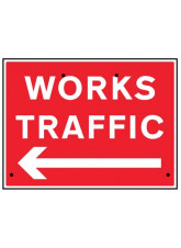 Re-Flex Sign - Works traffic arrow left