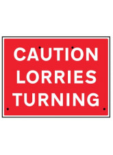 Re-Flex Sign - Caution lorries turning
