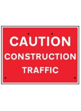 Re-Flex Sign - Caution Construction Traffic