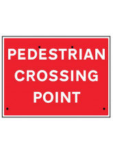 Re-Flex Sign - Pedestrian crossing point