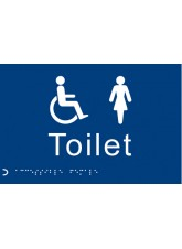 Braille - Toilet Ladies / Disabled