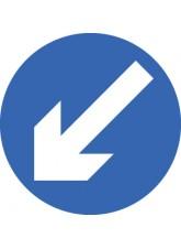 Keep Left - Class RA1 - 600mm Diameter
