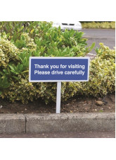 Verge sign - Thank you for visiting - Please drive carefully