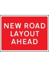 New Road Layout Ahead - Class RA1 - 600 x 450mm