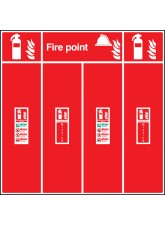 Fire Extinguisher Location Board - Double
