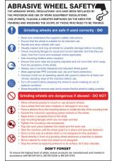 Abrasive Wheel Dangers & Precautions Poster