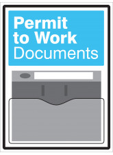 Permit to Work Document Holder Sign