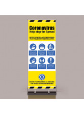 Coronavirus Roll Up Banner with Mandatory Messages