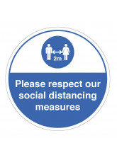 Respect Social Distancing Floor Graphic
