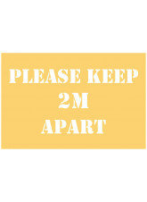 Please Keep 2m Apart Stencil