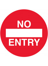 No Entry Floor Graphic