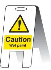 Caution Wet Paint - Self Standing Folding Sign
