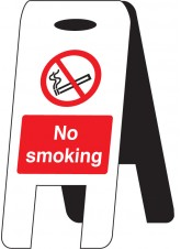 No Smoking - Self Standing Folding Sign