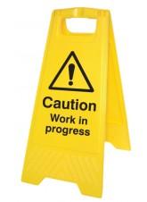 Caution Work in Progress - Self Standing Folding Sign