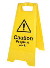 Caution People at Work (Free-Standing Floor Sign)